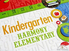 Doodlebug Back To School Alphabet Layout by Mendi Yoshikawa