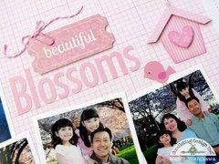 Doodlebug Cupcape Pink Layout by Mendi Yoshikawa