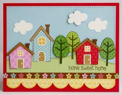 Doodlebug Home Sweet Home Card by Mendi Yoshikawa