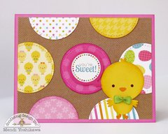 A Doodlebug Easter Parade Chick Card by Mendi Yoshikawa