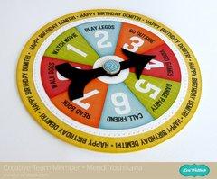 Lori Whitlock Game Spinner Birthday Card by Mendi Yoshikawa