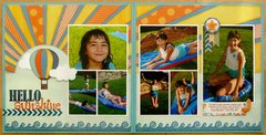 Echo Park About A Boy 2-page Starburst Layout by Mendi Yoshikawa