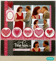 Echo Park Love Story Wedding Layout by Mendi Yoshikawa