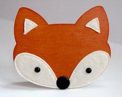 A Fall Fox Face Shaped Card by Mendi Yoshikawa