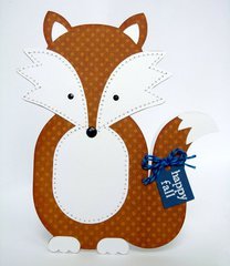 A Fall Fox Shaped Card by Mendi Yoshikawa