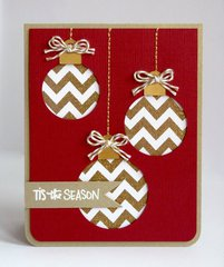 A Chevron Ornament Christmas card by Mendi Yoshikawa