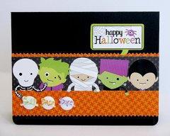 Doodlebug Halloween Parade Kids Card by Mendi Yoshikawa