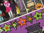 Doodlebug Halloween Parade Layout by Mendi Yoshikawa