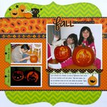 A Doodlebug Halloween Parade layout by Mendi Yoshikawa