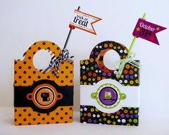 Doodlebug Halloween Parade Treat Boxes by Mendi Yoshikawa