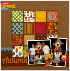 A Doodlebug Happy Harvest Disney Layout by Mendi Yoshikawa