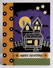 A Lawn Fawn Happy Haunting Card by Mendi Yoshikawa
