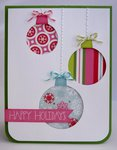 Echo Park Happy Holidays Ornament Card by Mendi Yoshikawa