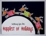 A Hero Arts Reindeer Christmas Card by Mendi Yoshikawa