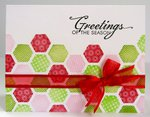 A Hexagon Themed Christmas Card by Mendi Yoshikawa