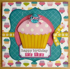 An Echo Park Little Girl Card by Mendi Yoshikawa