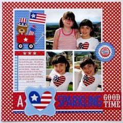 Doodlebug Design - Patriotic Picnic Collection - 12 x 12 Paper Pack