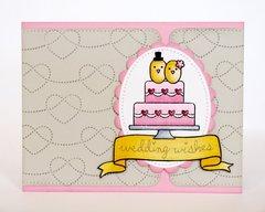 Lawn Fawn Happy Wedding Card by Mendi Yoshikawa