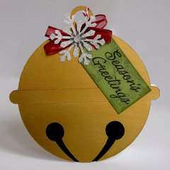 A Jingle Bell Shaped Christmas Card by Mendi Yoshikawa