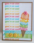 Echo Park Dots & Stripes Ice Cream Card by Mendi Yoshikawa