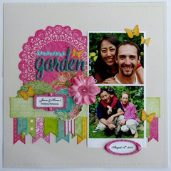 Kaisercraft Secret Admirer layout by Mendi Yoshikawa