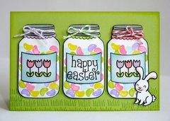 A Lawn Fawn Happy Easter Card by Mendi Yoshikawa