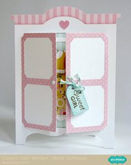 A Lori Whitlock Armoire Shaped Card by Mendi Yoshikawa