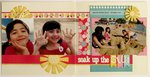 An Echo Park Sweet Girl Beach layout by Mendi Yoshikawa