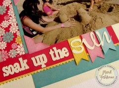 An Echo Park Sweet Girl 2-page 8x8 beach layout