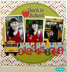 An Echo Park Back To School Layout by Mendi Yoshikawa