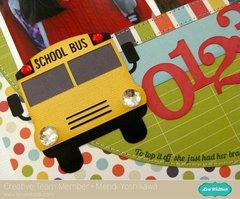 An Echo Park Back To School Layout by Mendi Yoshikawa