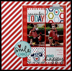 My Creative Scrapbook Minnie Mouse Layout by Mendi Yoshikawa