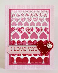 Echo Park Love Story Ombre Heart Card by Mendi Yoshikawa