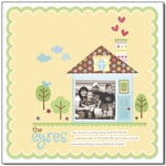A Doodlebug House Themed Layout by Mendi Yoshikawa