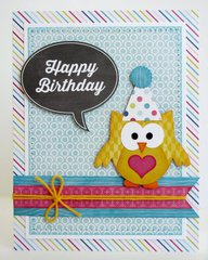 Echo Park Here & Now Birthday Card by Mendi Yoshikawa