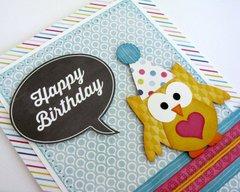 Echo Park Here & Now Birthday Card by Mendi Yoshikawa