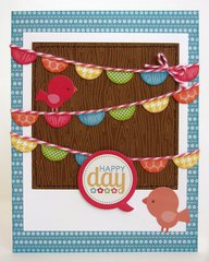 A Doodlebug Flower Box Banner Card by Mendi Yoshikawa