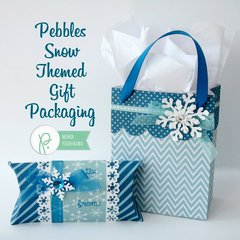 Pebbles Inc. Winter Birthday Gift Wrap by Mendi Yoshikawa