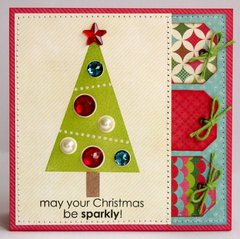 Technique Tuesday Sparkly Chistmas Card by Mendi Yoshikawa