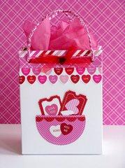 A Doodlebug Sweethearts Gift Bag by Mendi Yoshikawa