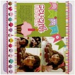 Technique Tuesday Banner Up Birthday Layout by Mendi Yoshikawa