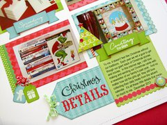 Technique Tuesday & Doodlebug Christmas Layout by Mendi Yoshikawa
