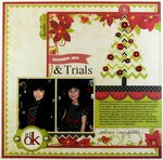 Echo Park & Technique Tuesday Christmas Layout by  by Mendi Yoshikawa