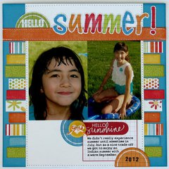 A Technique Tuesday Summer layout  by Mendi Yoshikawa