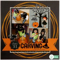 A Pebbles Thirty-One Halloween Layout by Mendi Yoshikawa