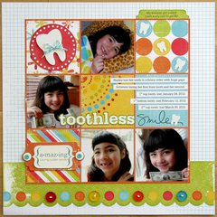 We R Memory Keepers Toothless Smile Layout by Mendi Yoshikawa