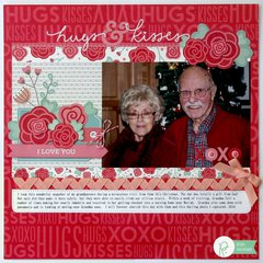 Pebbles We Go Together Valentine Layout by Mendi Yoshikawa
