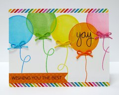 Technique Tuesday Balloon Birthday Card by Mendi Yoshikawa