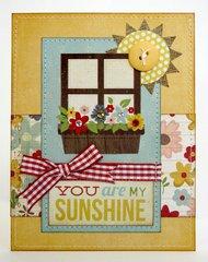 Simple Stories Summer Fresh Sunshine Card by Mendi Yoshikawa