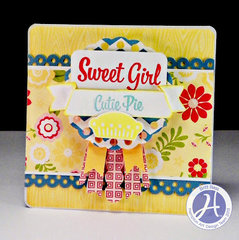 Sweet Girl card by Britt Bass